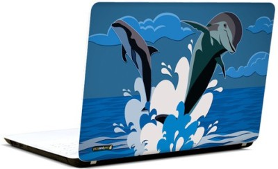 Pics And You Dolphins Animated Vinyl Laptop Decal