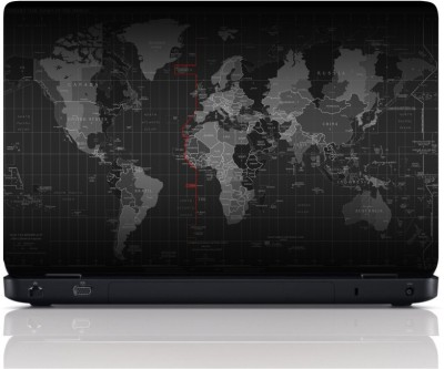 MGN Deatailed Wold Map Vinyl Laptop Decal 15.6