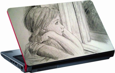 Sab Kuch Print Girl Sketch 75 Polyester Laptop Decal 14.1
