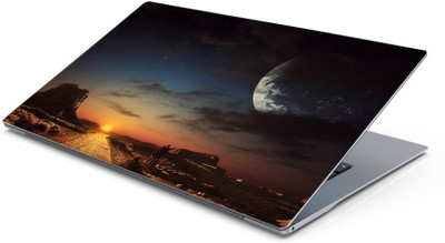 Lovely Collection perfect sun and moon view Vinyl Laptop Decal 15.6