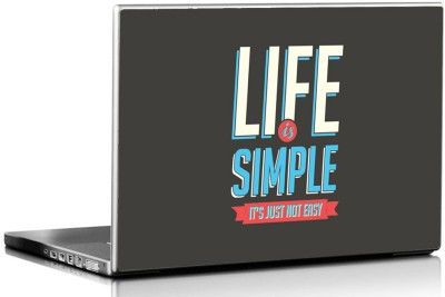 Seven Rays Life is Simple Vinyl Laptop Decal