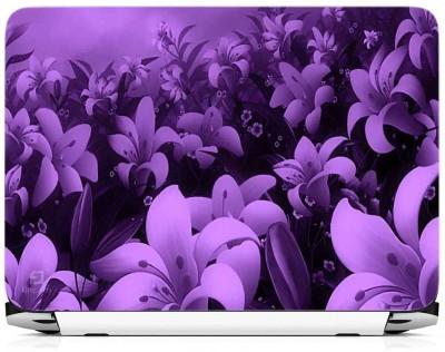 Print Gallery Purple Floral Vinyl Laptop Decal 15.6