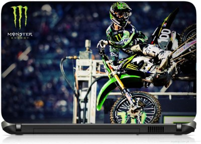 VI COLLECTIONS MONSTER BIKE RACING PRINTED VINYL Laptop Decal 15.6