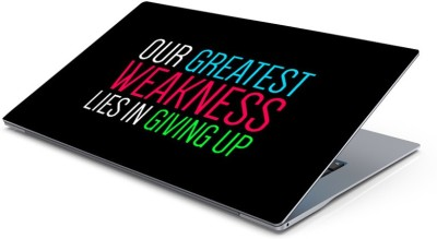 Lovely Collection Never Give Up Vinyl Laptop Decal