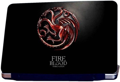 Style Clues Fire And Blood Vinyl Laptop Decal