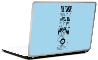Lab No. 4 Future Depends On What We Do Vinyl Laptop Decal 17
