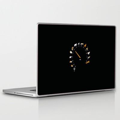 Theskinmantra Speed Progression PolyCot Vinyl Laptop Decal 15.6