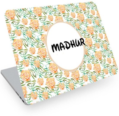 posterchacha Madhur Name Floral Design Laptop Skin Vinyl Laptop Decal 14