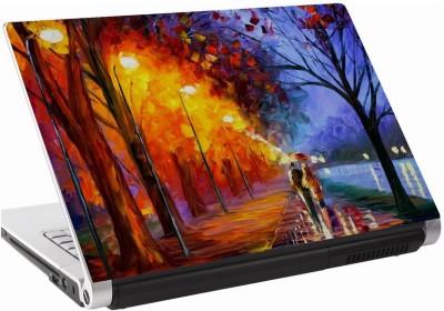 142Skin Painting Street Couple Vinyl Laptop Decal 15.6