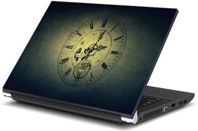 Print Shapes Antique Clock cover Vinyl Laptop Decal 15.6