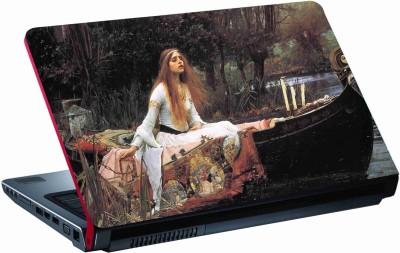 Sab Kuch Print Beautifull Girl Painting 117 Polyester Laptop Decal 14.1