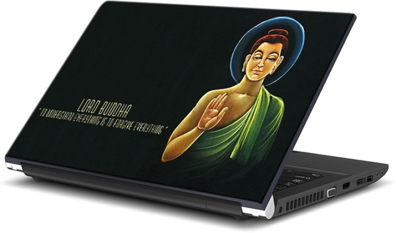 ezyPRNT Lord Budha Quote (15 to 15.6 inch) Vinyl Laptop Decal 15