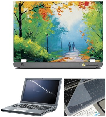 anycreation Boy and Girl Painting HD Vinyl Laptop Decal