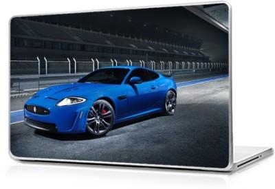 Global Blue Aston martin car Vinyl Laptop Decal