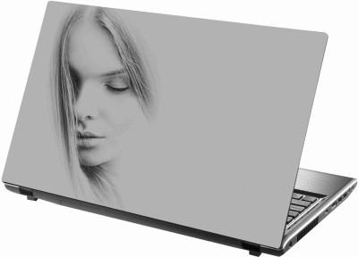 Sab Kuch Print Girl Sketch 76 Polyester Laptop Decal 14.1