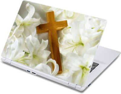 ezyPRNT Crucifix on Jasmine (13 to 13.9 inch) Vinyl Laptop Decal 13