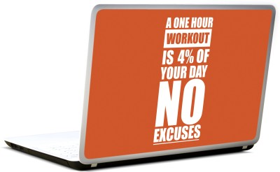 Lab No. 4 A One Hour Workout Gym Vinyl Laptop Decal 17