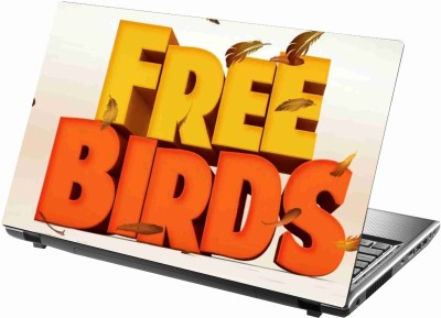 Sab Kuch Print Free Birds 92 Polyester Laptop Decal 14.1