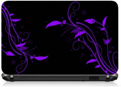 VI COLLECTIONS BLUE NEON PLANT NIGHT PRINTED VINYL Laptop Decal 15.5