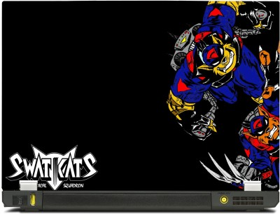 SkinShack New 3D Swat Kats Animated Black (12.1 inch) Vinyl Laptop Decal