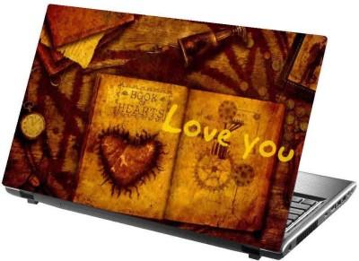 virtual prints love poster brown digitally printed vinyl Laptop Decal 15