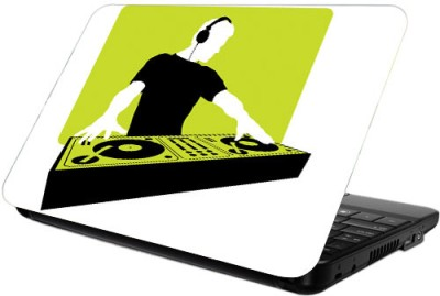 Printland Green DJ Vinyl Laptop Decal 13