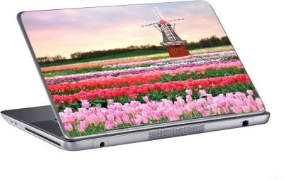 AV Styles windmill in tulip garden skin Vinyl Laptop Decal 15.6
