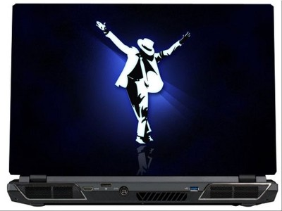 SkinShack Michael Jackson Blue & White Art (15.6 inch) Vinyl Laptop Decal 15.6