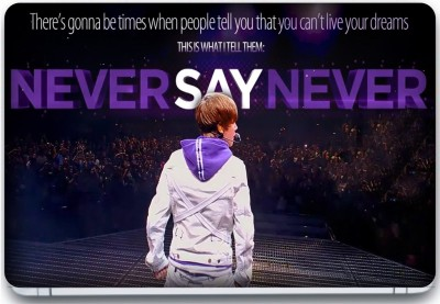 Trendsmate Never say Never 3M Vinyl and Lamination Laptop Decal