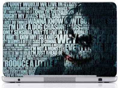 WebPlaza Typography Joker Laptop Skin 15 Vinyl Laptop Decal