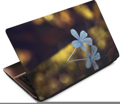 Anweshas Blue Leaf Vinyl Laptop Decal