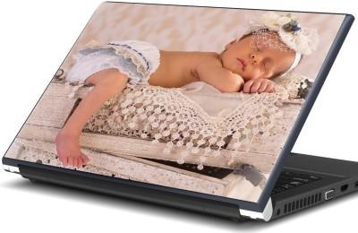 Artifa Baby sleeping on crates Vinyl Laptop Decal 15.6