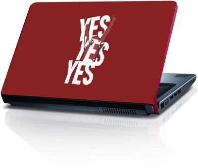 Shopkeeda Yes Yes Yes Vinyl Laptop Decal 15.6