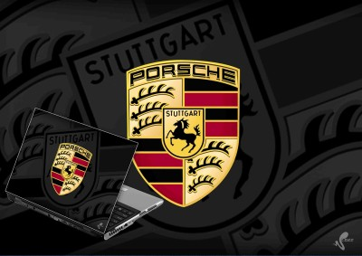 Seamen Porsche Logo Vinyl Laptop Decal