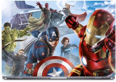 Marvel Captain America - Iron Man Vinyl Laptop Decal 15.6
