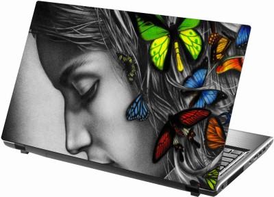 Sab Kuch Print Girl Sketch 66 Polyester Laptop Decal