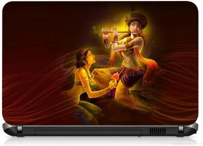 VI COLLECTIONS RADHE KRISHNA PRINTED VINYL Laptop Decal 15.6