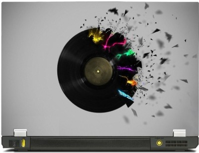 Skinkart Musical Graphics Laptop Skin Type 19 (Screen Size 15.6 inch) Premium quality Imported Vinyl Laptop Decal 15.6