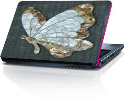 Shopmillions Golden Butterfly Vinyl Sheet Vinyl Laptop Decal 15.6