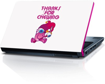 Shopmillions Thanks For Chewing Vinyl Laptop Decal 15.6