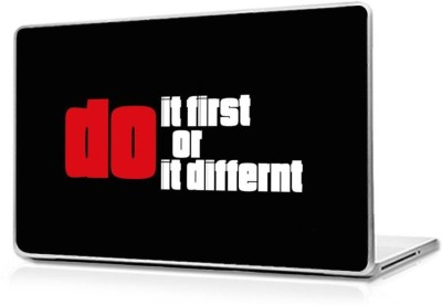 Automers Skin of Motivational Do it First - Reusable High Quality 3M Vinyl Laptop Decal 15.6