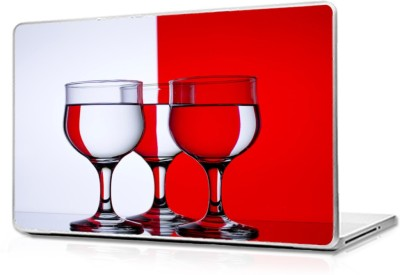 Global Red White Glass Vinyl Laptop Decal