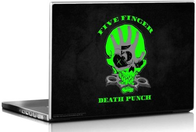 Bravado Five Finger Death Punch Florecent Skull Vinyl Laptop Decal 15.6
