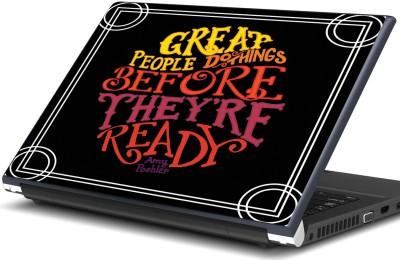 Artifa Amy Poehler Great people quote Vinyl Laptop Decal 15.6