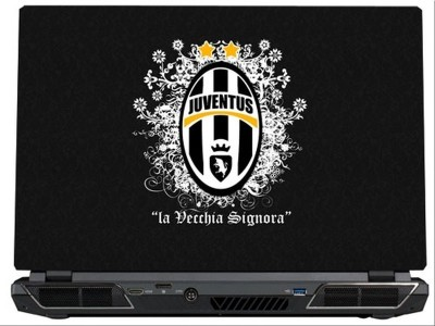 SkinShack Juventus FC Grey Themed (15.6 inch) Vinyl Laptop Decal