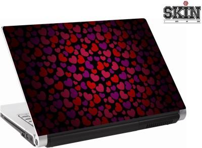 142Skin Hearts Baby Pink & Yellow Vinyl Laptop Decal 15.6