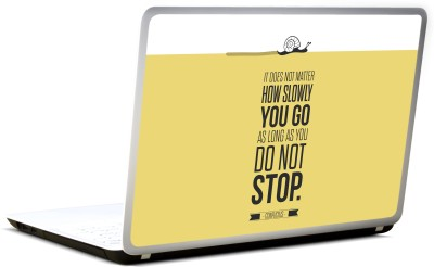 Lab No. 4 Confucius Inspirational Typography Quote Vinyl Laptop Decal