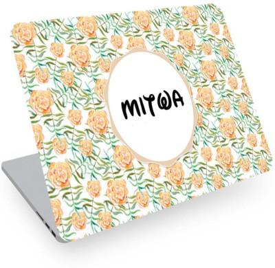 posterchacha Mitwa Name Floral Design Laptop Skin Vinyl Laptop Decal 14