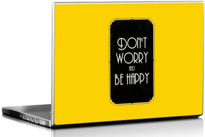Seven Rays Dont Worry Be Happy Vinyl Laptop Decal 15.6