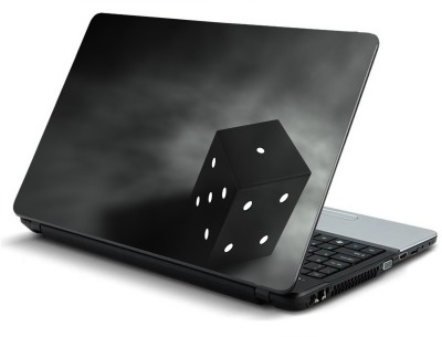 Psycho Art Cube 3d Graphics Black Gray Background 3d Vinyl Laptop Decal 15.6